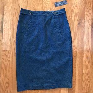 DownEast Pencil skirt dark denim xs NWT